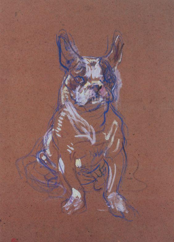 Henri De Toulouse-Lautrec. «Bouboule: El bulldog de Madame Palmyre» (1897). Museo de Toulouse-Lautrec (Albi).