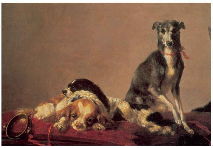 Anne Vallayer- Coster. «Los pequeños favoritos» (1775). Colección de John y Laura Pomerantz.