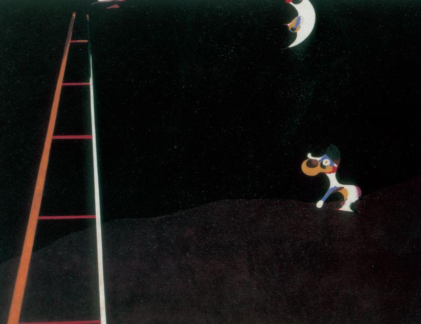 Joan Miró. «Perro ladrando a la Luna» (1926). Museo de Arte de Filadelfia. Colección A. E. Gallatin.