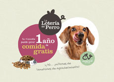 La Lotería del Perro ha sorteado un año de comida premium gratis