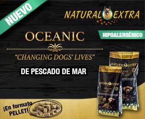 Natural Extra Oceanic, pienso natural con un 36% de pescado de mar