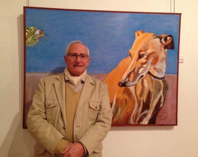 Pedro Sanz López, pintor de Galgos.
