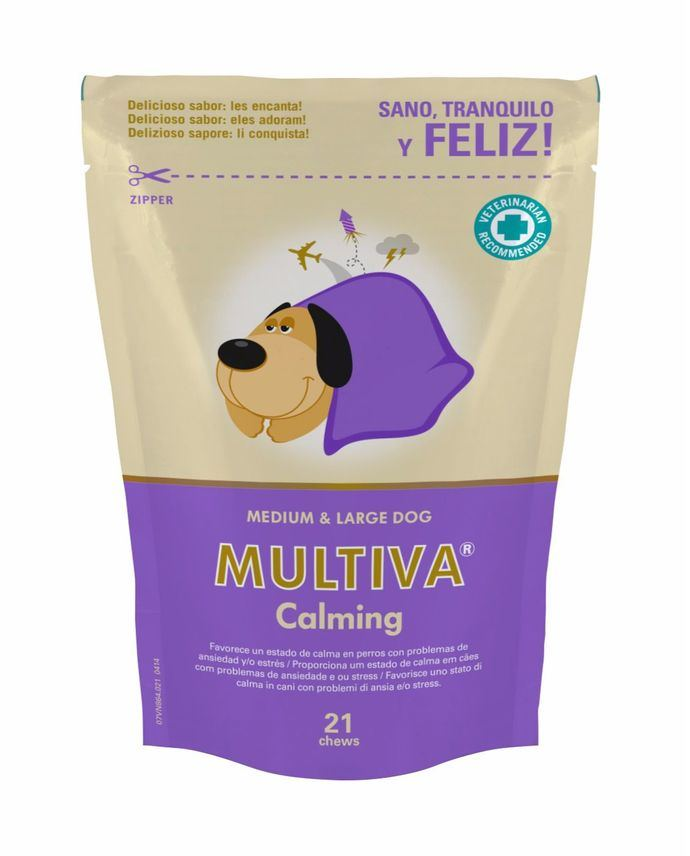 MULTIVA CALMING, Calmante Natural para Gatos y Perros con Problemas de Ansiedad y/o Estrés
