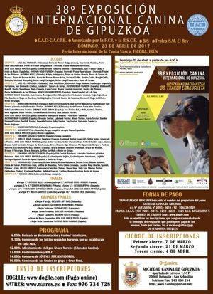 38º EXPOSICIÓN INTERNACIONAL CANINA DE GIPUZKOA 2017