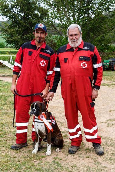 «Bandy de Alidog». Prop.: Lidia González y Jaume Casals (Alidog). Boxer homologado para Busqueda y Rescate de Cruz Roja.