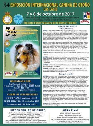 34 EXPOSICIÓN INTERNACIONAL CANINA DE OTOÑO CAC-CACIB