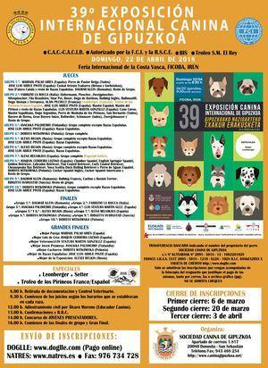 39º EXPOSICIÓN INTERNACIONAL CANINA DE GIPUZKOA