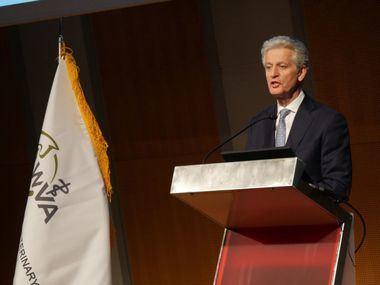 Juan Ramón Alaix, CEO de Zoetis, inaugura el Congreso Mundial de Veterinaria, celebrado en Barcelona con el patrocinio de la compañía