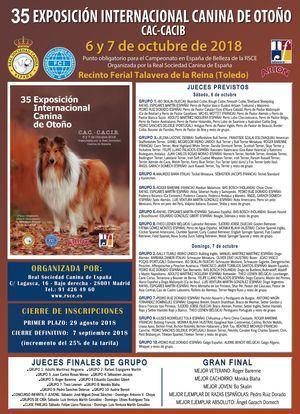 35 EXPOSICIÓN INTERNACIONAL CANINA DE OTOÑO CAC-CACIB