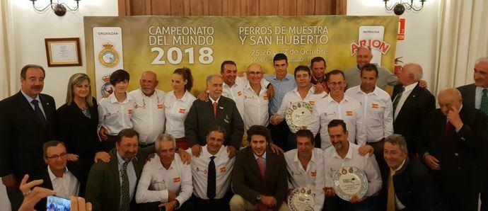 Equipo Español del Campeonato del Mundo de Perros de Muestra.