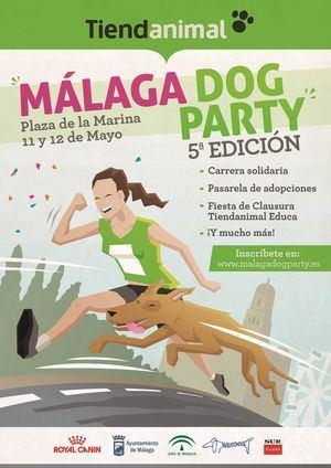 Málaga Dog Party, la gran fiesta con perros de la ciudad, presenta su quinta edición