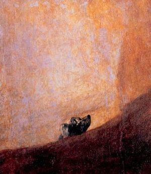 Francisco De Goya. «Un perro» (1820-23). Museo de El Prado (Madrid).