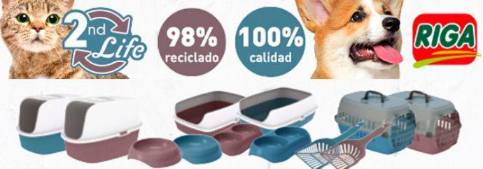 """Accesorios """"2nd life"""", 98% plástico reciclado"""