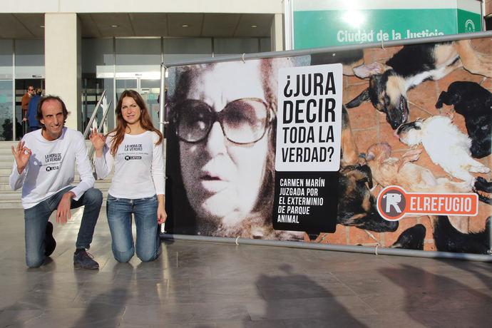 La protectora El Refugio celebra la condena de tres años y nueve meses de cárcel para la Exterminadora de Parque Animal, Carmen Marín.