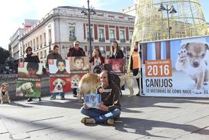 """El Refugio presenta su calendario solidario 2016 con una """"exposición fotográfica viviente"""""""